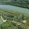 Duna folyam a Bodaki ágvéglezárás környéke légi felvételen kisvizes időszakban 2003.09.01.