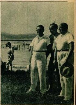 Eisemann Mihály Gárdonyban Dénes Oszkárral és öccsével