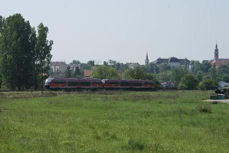 Érkezés a magyar-szlovák vasutas napra (Szécsény)