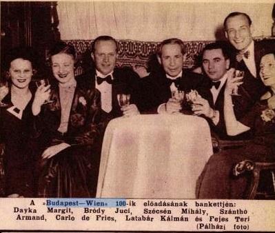 Fries de Károly, Szécsén Mihály színészekkel