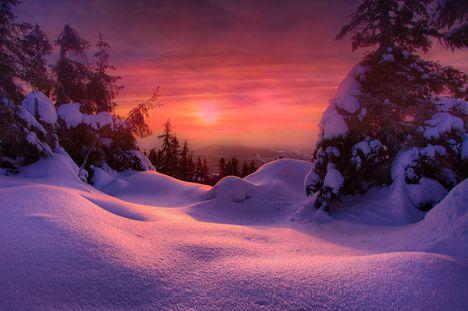 Tél Havas téli naplemente-0821