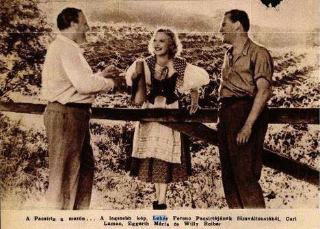Lehár Ferenc Pacsirta c. operettfilmje Eggerth Mártával