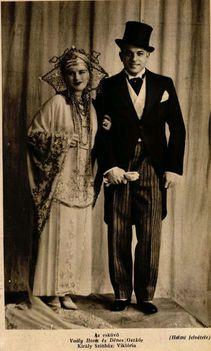 Ábrahám Pál: Viktória operettjének budapesti premierje (1930)  főszereplői