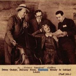 Eisemann Mihály az Alvinci Huszár operettje próbáján (1930)