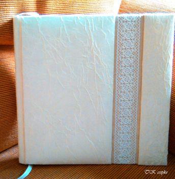 Esküvői vendégkönyv vertcsipkével