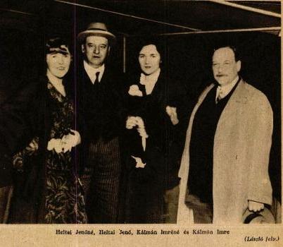 Kálmán Imre és Heltai Jenő feleségükkel (1930)