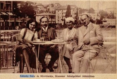 Kálmán Imre feleségével és librettistájával (1930)