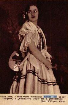 Kálmán Imre új operettje a Montmartrei ibolya bécsi primadonnája (1930) Adele Kern