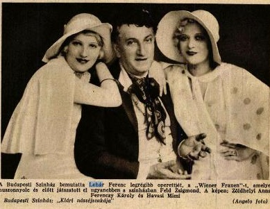 Lehár első operettje ismét műsoron (1930)