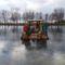 Lipót, Betlehem a mentett oldali vízpótlórendszer részeként üzemelő Kengyátó-tó jegén, 2016. január 16.-án  3