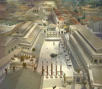 A Forum Romanum rekonstrukciós képe
