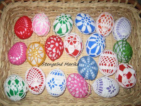 horgolt tojások 2