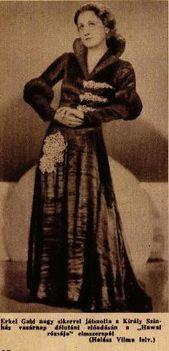 Erkel Gabi Ábrahám Pál: Hawaii rózsája c. operettjében (1932)