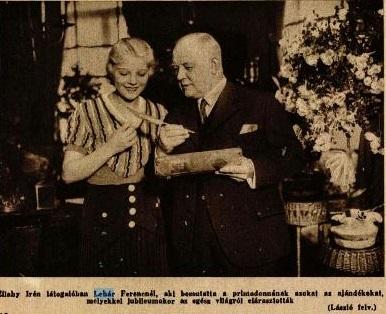 Lehár Ferenc és Zilahy Irén (1932)