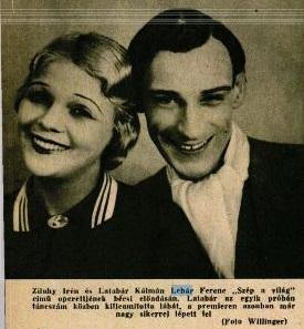Lehar: Szép a világ c. operettje szereplői (1932)