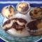 Gluténmentes muffin zebra mintával