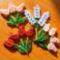 tulipánok és levendula