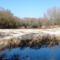 Kertész gát a Szigetközi hullámtéri vízpótlórendszer legelső létesítménye, Rajka 2016. január 20.-án