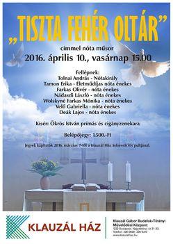 Tiszta Fehér Oltár címmel nótaműsor