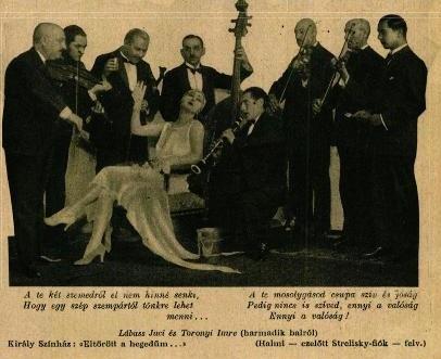 Lábass Juci és Tornyi Imre Zerkovitz Béla: Eltörött a hegedűm c. operettjében (1928)