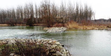 Szigetközi hullámtéri vízpótlórendszer, Újszigeti gát, Ásványráró 2015. február 16.-án