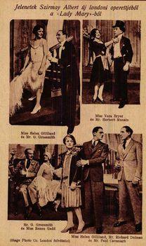 Szirmai Albert Lady Mary c. operettje Londonban (1928)