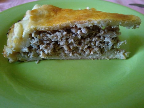 Áfonyás húsos pite