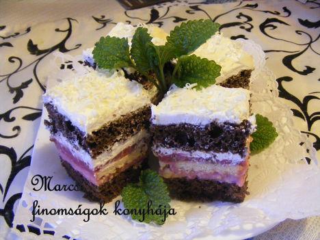 Meggyes-habos szelet fehér csokival