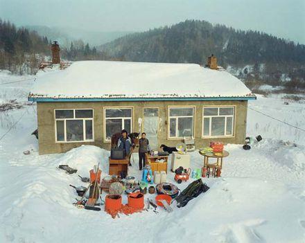 egyszerű hegyvidéki család élettárgyai