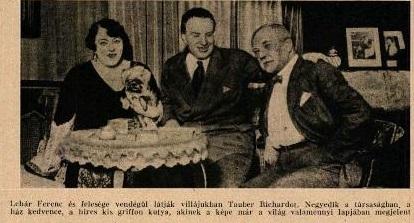 Lehár Ferenc feleségével (1929)