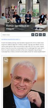 Ridikül Magazin cikke és Ridikül TV talk-shaw  - Így nótázik a magyar