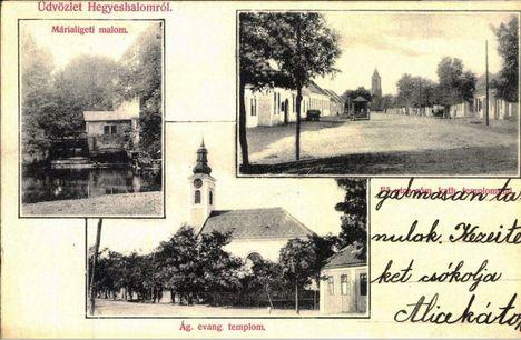 Márialiget  1945 velőtti időszakban feladott képeslapon