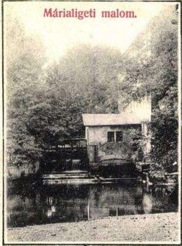 Márialigeti malom képeslapon 1945 előtti időszakban feladott