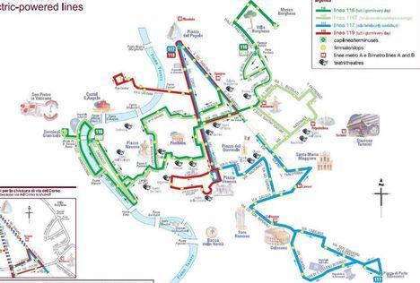 116_117_119 busz útvonal Róma