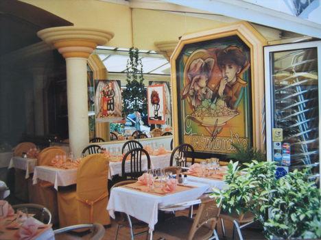 Csinos, kis étterem, Cannes-ban