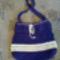 horgolt lila táska