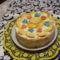 Almás tejszínhabos torta