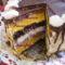 Somlói torta szeletelve