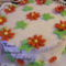 Kókuszkrémes dísz torta
