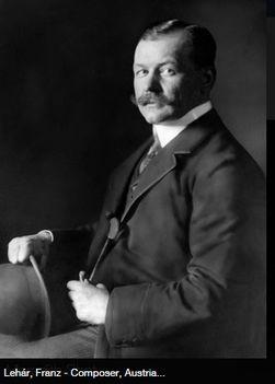 Lehár Ferenc zeneszerző, karmester kalapban