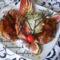 Barbecue-s csirkecombok céklás burgonyapürével