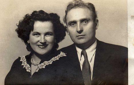 Nyiri Erzsi és férje