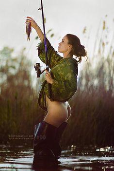 horgász nő