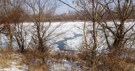 Duna folyam 1847, 4 fkm, jégtorlasz 2012. február 08.-án