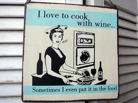 Szeretek borral főzni