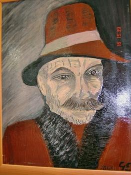 Idős férfi kalapban
