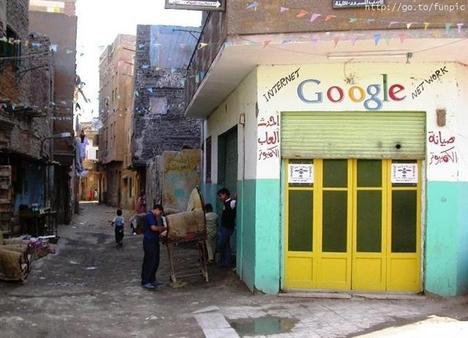 Internet kávéház Kairóban