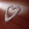 szív csillámporból