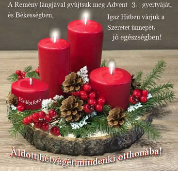Advent három gyertya