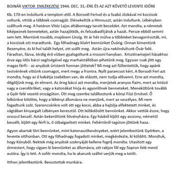 Bojnár Viktor visszaemlékezése